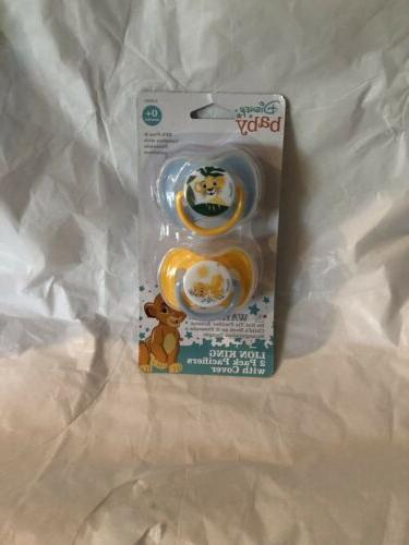 baby lion king 2 pack pacifiers w