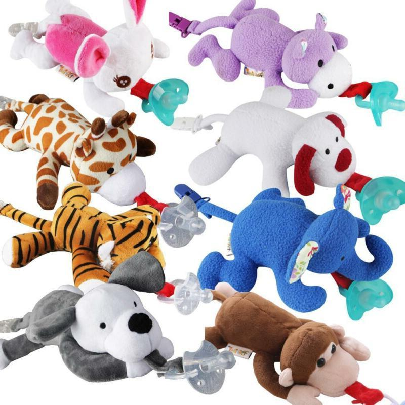 baby nipple toys pacifier stuffed animals hang