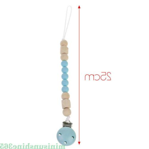 Baby Pacifier Holder Beads Gift