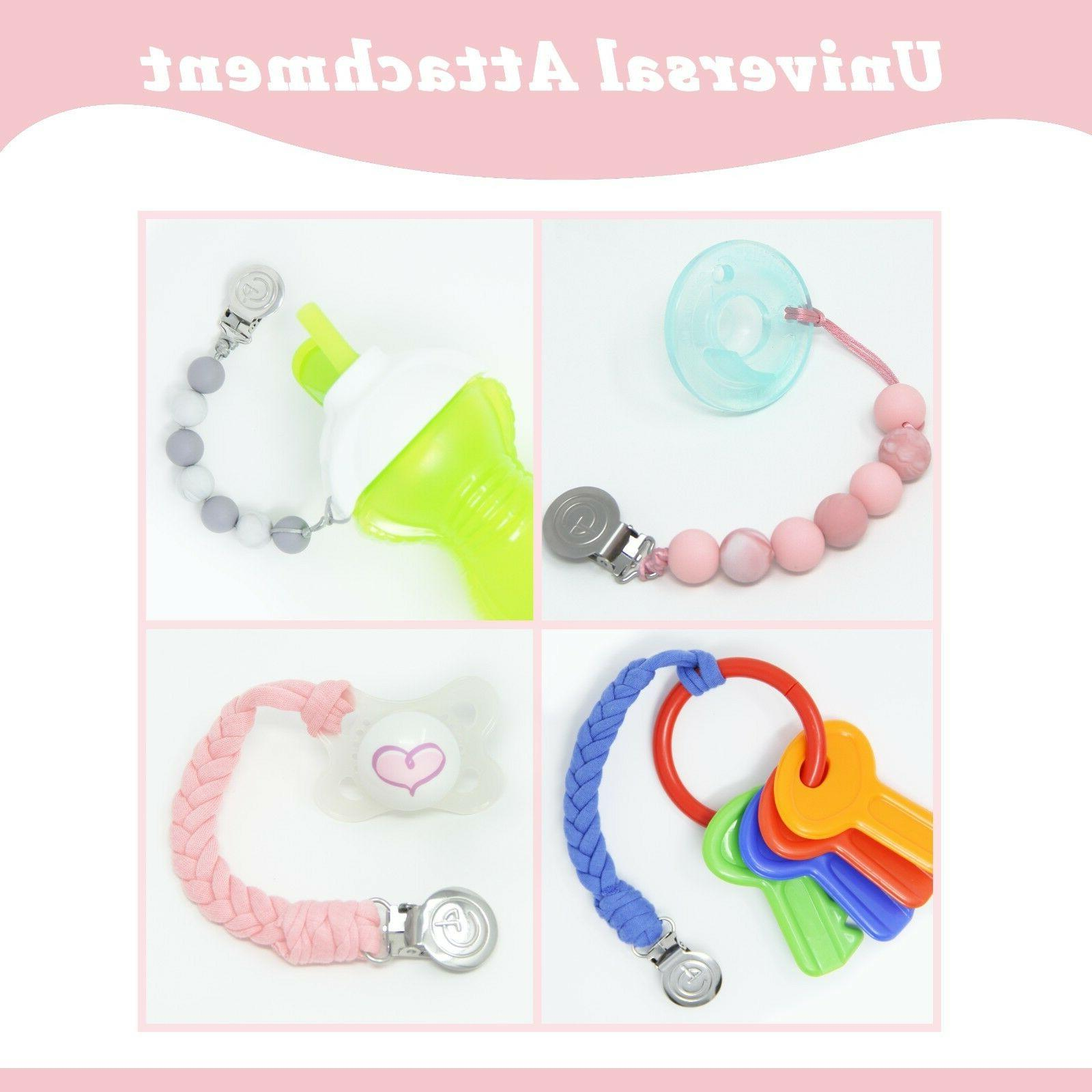 Baby Clips Set Silicone Beaded