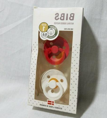 bpa free natural rubber baby pacifiers red
