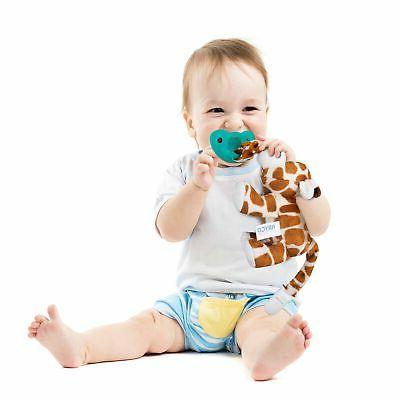 Bryco Baby Stuffed Animal Giraffe Plush Pacifier Holder