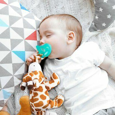 Bryco Baby Pacifier Stuffed Animal Plush Pacifier Holder