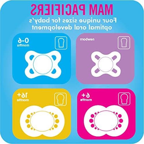 MAM Pacifiers, Pacifier 0-6 Months, Best for Love Design Collection, Boy, 2-Count