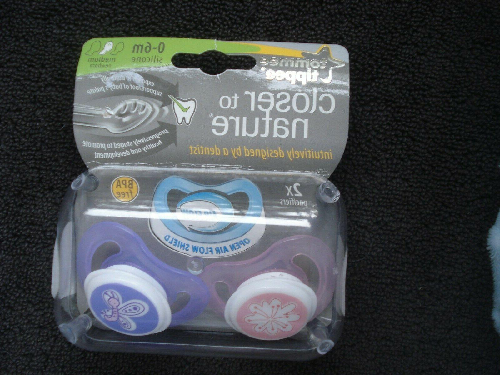 closer to nature pacifiers pink purple design