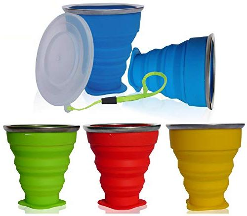 collapsible silicone cup genuine foldable