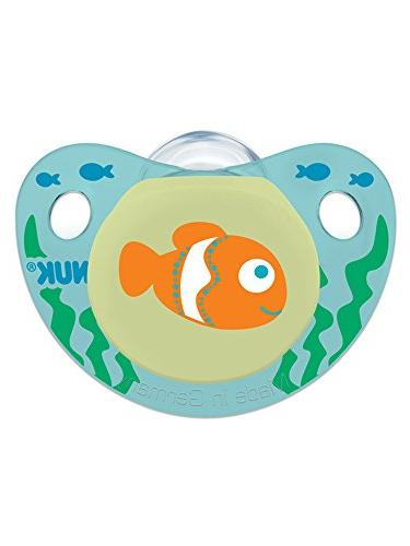 NUK Button Sea Creatures in Assorted Colors Styles, Months, 2 Count