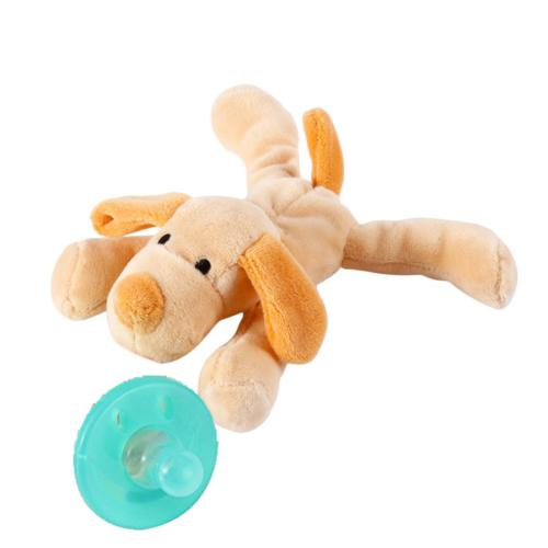 Lovely Nipple Silicone Pacifier w/ Animal Plush WW