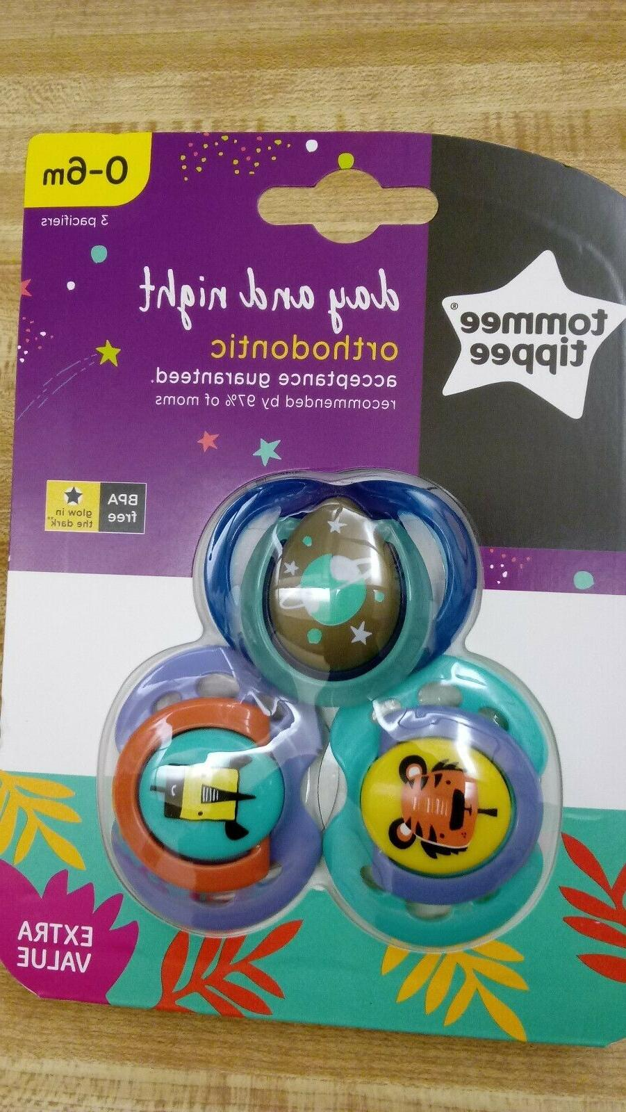 day and night orthodontic pacifiers 0 6m