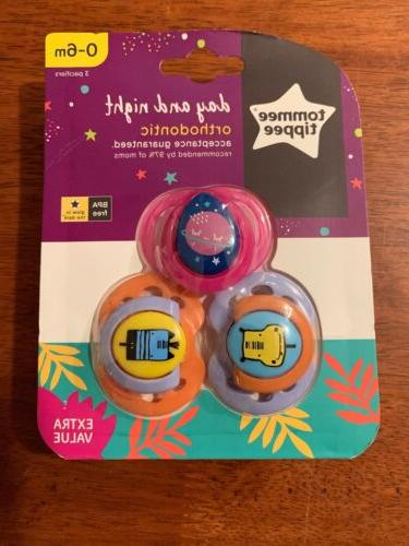day and night orthodontic pacifiers 3 pk