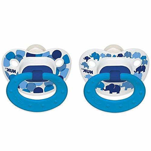 NUK Day Glow Pacifier 2pk Boy