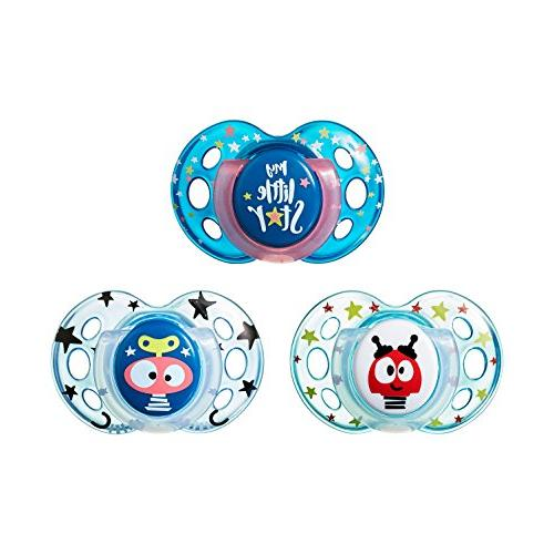 Tommee Night Pacifiers, with BPA-Free, 18-36 Months, Count