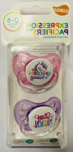 Ulubulu Expression Pacifiers 0-6 Mo. BPA Free 2-Pack Orthodo