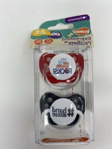 expression pacifiers 0 6 mo bpa free