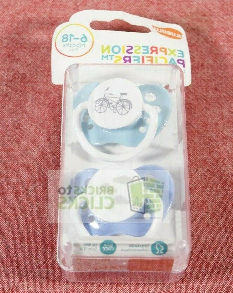 expression pacifiers 0 6 mons boy ligh