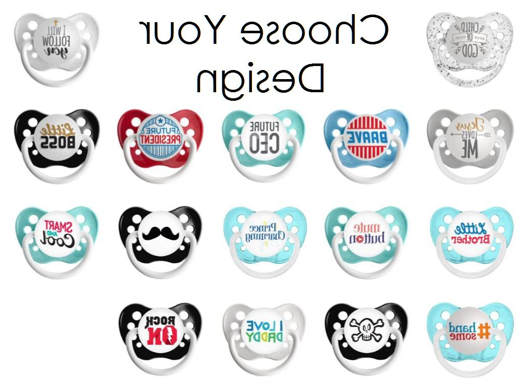 Choose Your Design 0-18 months Ulubulu Expressions Pacifier for Baby Boy
