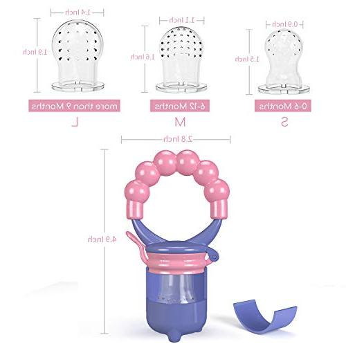 Youen Feeder Baby Pacifier, Silicone Feeding - Sizes Food Mesh,Infant Toy, 2