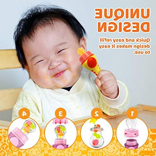 Baby Fruit | Food | fruit Toy | Silicone Nipple, for Cradle Plus