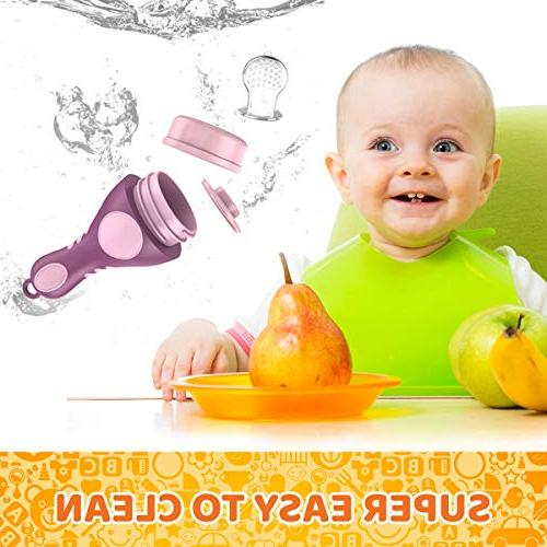 Baby Fruit | feeder | fresh fruit Toy Feeder | Silicone Nipple, Teether, for by Plus