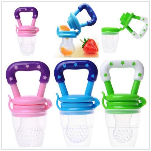 Baby Feeder 3Pack-Fresh Food Feeder-Silicone Nipple Teething Pouches Toddlers & Kids