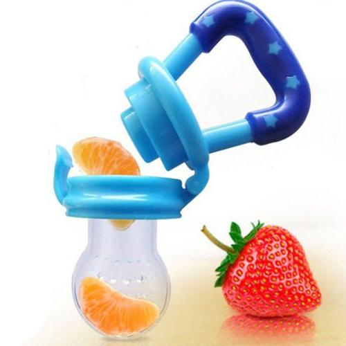 Baby Fruit Feeder 3Pack-Fresh Teething Toy-Silicone Toddlers