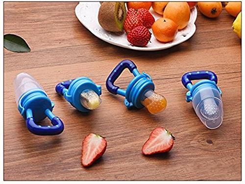 Baby 3Pack-Fresh Feeder-Silicone Teething Pouches for Toddlers & Kids