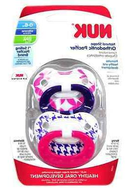 NUK Pack Shaped Pacifier - Girl