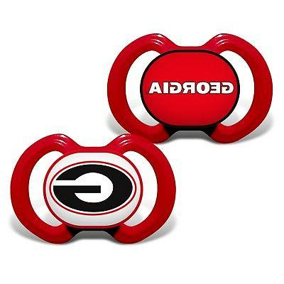 georgia bulldogs pacifiers 2 pack set infant