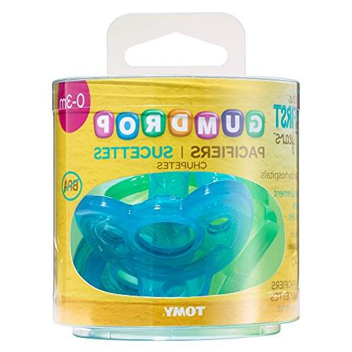 The First Pacifier, Pack, Blue/Green, 1