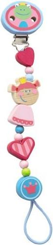 HABA Heart Princess and the Frog Wooden Pacifier Chain