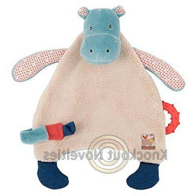 hippo pacifier lovey les papoum doll play