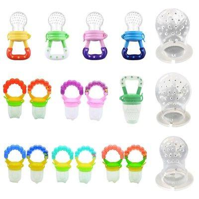 infant baby feeding pacifier fruits soup feeder