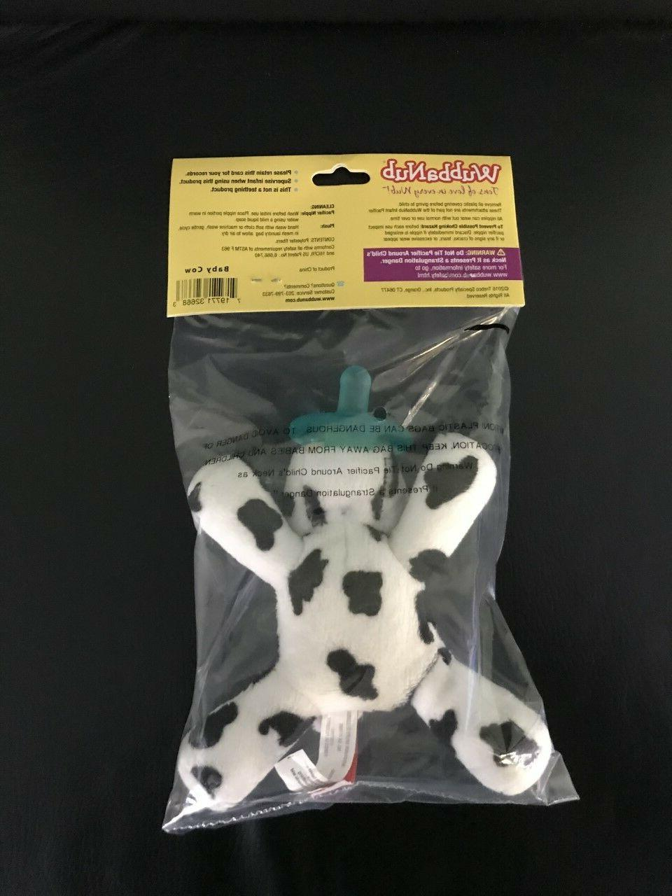 WubbaNub Infant Pacifier Baby Cow New