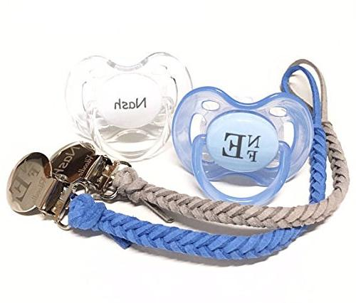 Pacidoodle Leather Pacifier CUSTOMIZE NOW with Baby