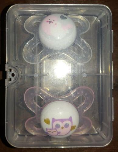 Lot of 3 Pacifiers MAM Newborn/NB Small/Lightweight Steriliz