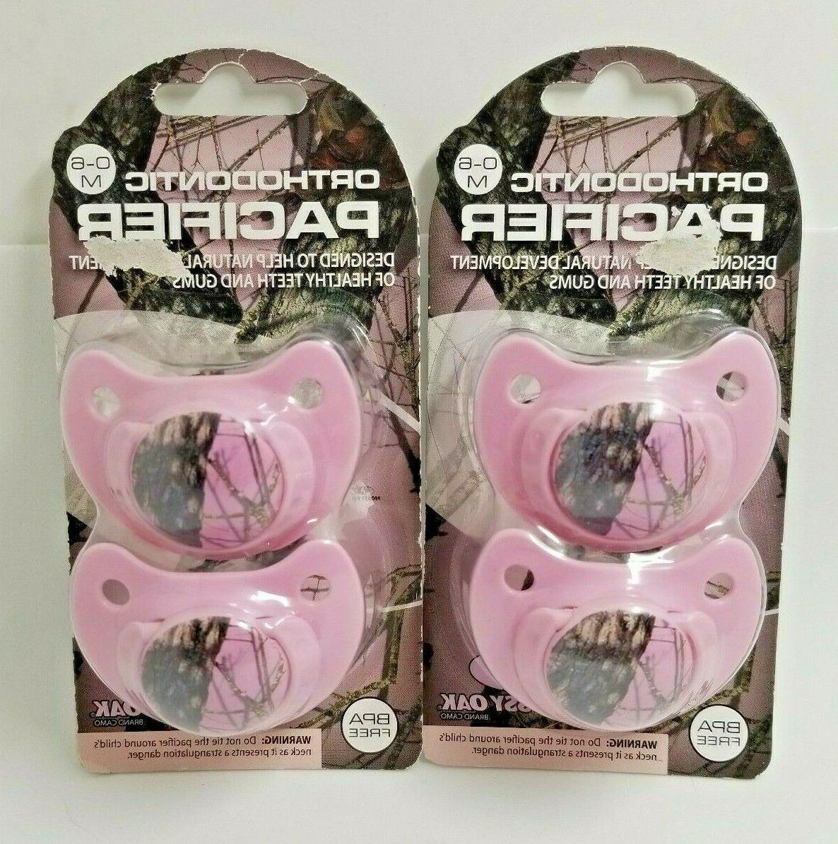 lot of 4 pink orthodontic camo camouflage