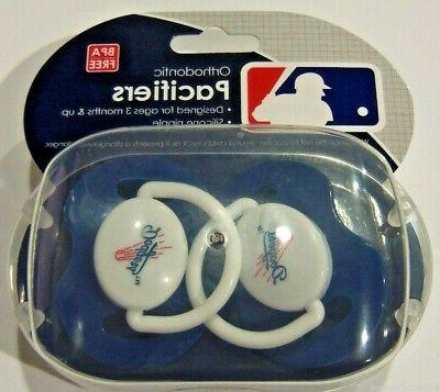 mlb los angeles dodgers pacifier set of