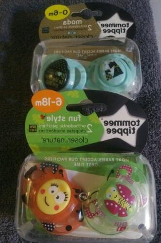 moda orthodontic pacifiers 2 pack 0 6m