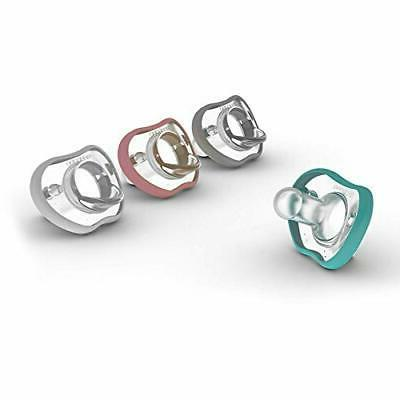 Nanobebe Pacifiers 0-3 - Orthodontic, with Face