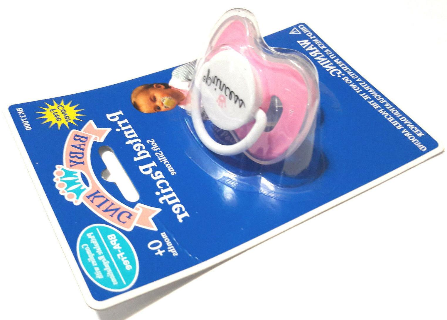 new pink princess soft silicone pacifier binky