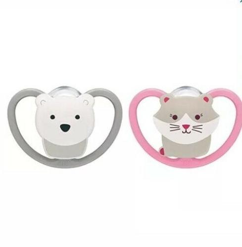 NEW NUK Space Orthodontic Pacifiers, Months, Pck