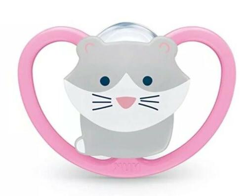 NEW NUK Space Orthodontic Pacifiers, 0-6 Months, Pck