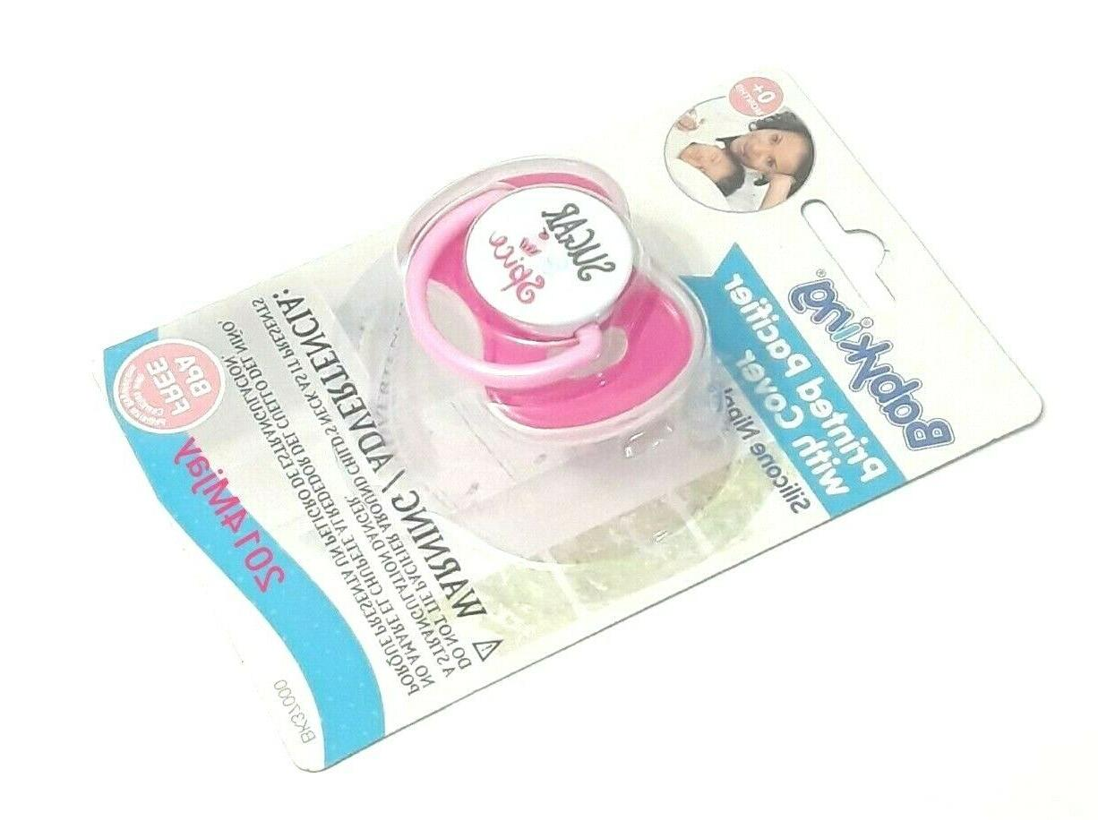 new sugar and spice soft silicone pacifier