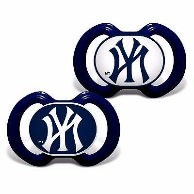 New York Yankees Pacifiers 2 Pack Set Infant Baby Fanatic BP
