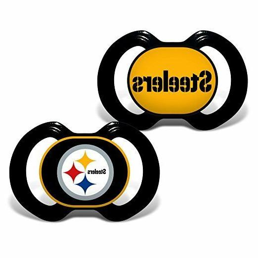 nfl pittsburgh steelers 2 piece pacifier set