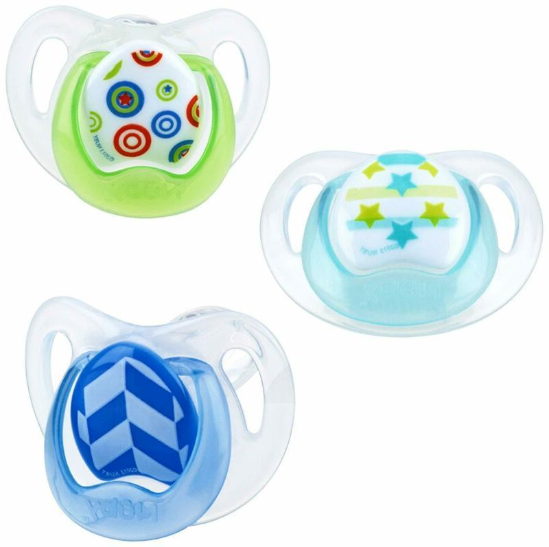 orthodontic 3 piece pacifiers with soothing soft
