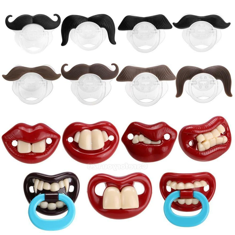 orthodontic baby newborn infant funny mustache pacifier