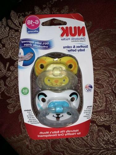 orthodontic pacifier 6 18 months 2pack panda