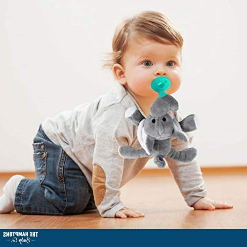 Baby Pacifier with Attached Stuffed Soothie for Your Child- Infant + - for - BPA-Free, Unisex Girls