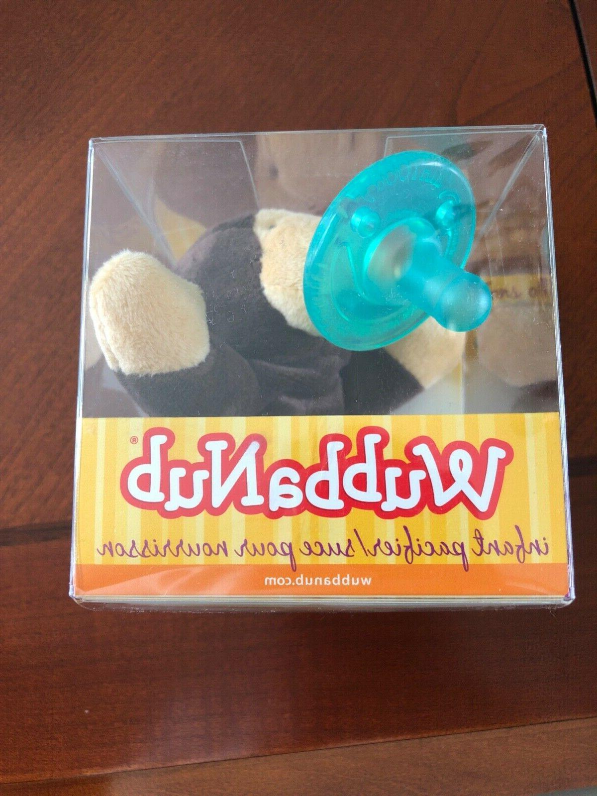 pacifier brown monkey plush toy new in